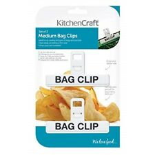 Medium Set of 2 Plastic Bag Clips - Kitchen Craft Two Kcbagmed Colours May