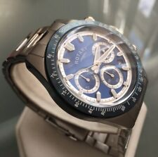 Men's Genuine Rotary Chronograph Blue Designer Watch GB00643/05 Steel Date