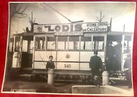 Milano Tram linea Lambrate Loreto De Sanctis fotografia pubblicitaria 23X16 cm