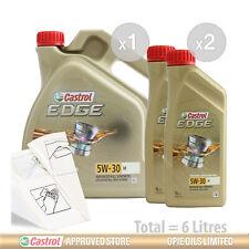 Car Engine Oil Service Kit / Pack 6 LITRES Castrol EDGE 5w-30 M 6L