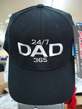 DAD 24/7,365, BASEBALL/ GOLF CAP/ HAT, Black SM/ Med  Yupoon Fitted wool blend