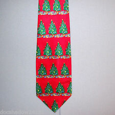 St Nicks Tie Shop DECORATED CHRISTMAS TREES Holiday Silk Neck Tie #720