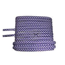 Mr Lacy Ropies - Violet & White Shoelaces - 130cm Length 5.5mm Width