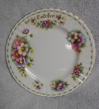 Royal Albert Flower of the Month October Pastel And Green  Plate