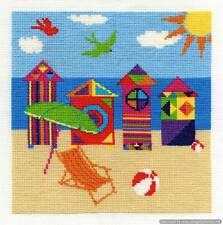 DMC Cross Stitch Kit - Bright Beach Huts BK1555