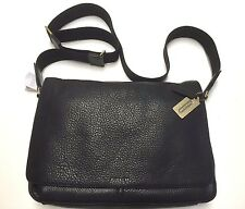 NWT COACH BLEECKER LEGACY LEATHER COURIER BAG BRASS BLACK F71070