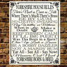 Personalised Metal YORKSHIRE HOUSE RULES Family Sign Dad Grandad Gift Present