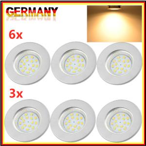 LED Einbau-Strahler Spot IP44 Bad ultra-flach Einbau-Leuchte Lampe 3er | 6er Set