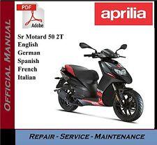 Aprilia Sr Motard 50 2T Workshop Service Repair Manual