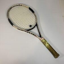 New listing Wilson Hyper Hammer H6 Carbon Matrix Tennis Racquet 4 3/8 Grip Oversize White