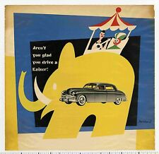 1949 Paul Rand AREN'T YOU GLAD YOU DRIVE A KAISER? rare Photocollage Auto Poster