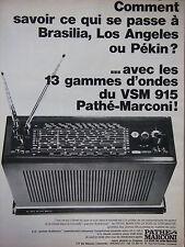 PUBLICITÉ DE PRESSE 1966 RADIO PATHÉ MARCONI LA VOIX DE SON MAITRE - ADVERTISING