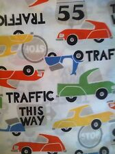 Pottery Barn Kids TRAFFIC Twin SHEET SET NEW Cars Trucks Vehicles Street