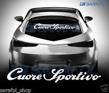 Cuore sportivo - 60x10 cm ALFA ROMEO ADESIVO AUTO ADESIVI sticker car tuning