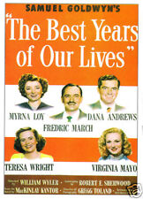 The best years of our lives 1946 vintage movie poster print