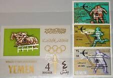KINGDOM YEMEN JEMEN KÖNIGREICH 1966 237-39 Block 32 Olympics 1968 Planes ovp MNH