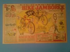 "1960 Western Auto Bicycle Christmas Memorabilia Bike Promo 20"" X 12 3/4"" Art AD"