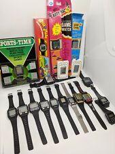 19 Vintage Game Watches 1980s Pac-man, Mario, Omni, Marcel, Nelsonic, Casio, Etc