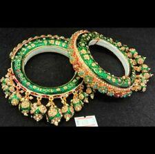Ethnic Traditional Indian Bangle Bracelet Bollywood Bangles Kada CZ Jewelry Sets
