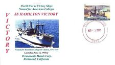 HAMILTON VICTORY Ship named: Hamilton College in Clinton, New York Color Cachet