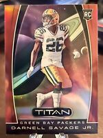 2019 Chronicles Titan Darnell Savage Jr Rookie RC Red Refractor /99 SP