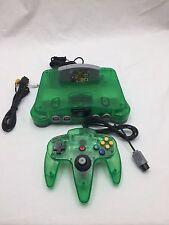 Nintendo 64 N64 Jungle Green System Console Funtastic Tested w/ Super Mario!!!
