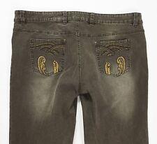 John baner jeans donna w38 54 F50 regular fit gamba dritta usati stretch T1233