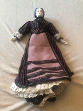Vintage Full Dressed Cloth & Porcelain Doll 17�