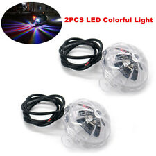 2PCS LED Colorful Light Car Motorcycle Under Body Atmosphere Lighting Lamp DC12V