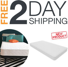 Bed Mattress Coil Springs Quilted White Cover Bedroom Comfort White Twin Size 6""