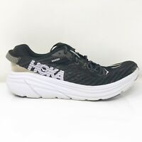 Hoka One One Mens Rincon 1102874 BWTH Black White Running Shoes Lace Up Size 10