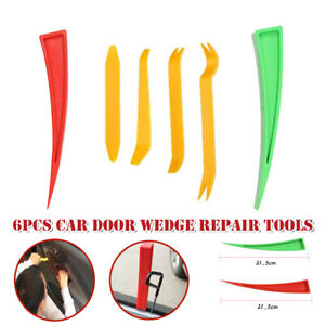 6*Car Door Window Support Wedge Panel Beater Repair Auxiliary Expansion Red Tool