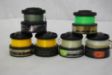Lot of 6 Vintage GRAPHITE SPOOLS By Daiwa + Fishing Line (Green/Clear/Yellow)