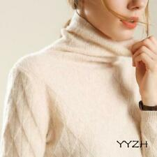 Womens Fashion Cashmere Knitted Turtleneck Sweater Slim Thick Warm Knitwear Chic