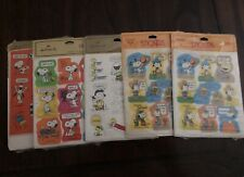 Vintage Lot Of Snoopy Stickers