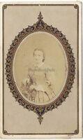 Ritratto Un Donna Da Thiel Fratelli Parigi CDV Vintage Albumina Ca 1860