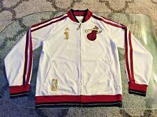 Miami Heat 3 Time NBA Champions Embroidered Zip-up Jacket Adult Medium Adidas