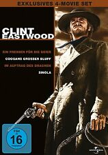 4 DVDs * CLINT EASTWOOD COLLECTION - 4-MOVIE-SET # NEU OVP +