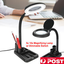 Dimmable Magnifying Crafts Glass Desk Lamp X10 Magnifier 72 LED Light With Clip