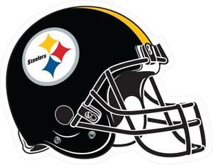 Pittsburgh Steelers Helmet Vinyl Decal ~ Car Sticker - Wall Graphics, Cornholes