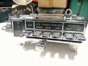 1964 Oldsmobile Starfire Jetstar 88 98 Temperature Controls w/Air Conditioning