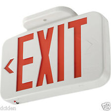 Lithonia Lighting Quantum Series LED Exit Sign w/ Battery- Damp Location Listed