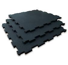 RUBBER FLOORING -FACTORY SECONDS - 48CM X 48CM X 15MM THICK FLOOR TILES -