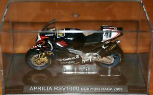 NORIYUKI NORI HAGA APRILIA RSV1000 2002 1:24 IXO Motorbike - Rare