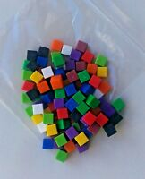 Counting Cubes New pack-100 1cm coloured plastic cubes for artithmetic & volume