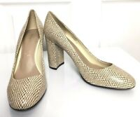 Ladies High Heel Shoes M&S Autograph Animal Print Leather s6 BNWT Marks Women