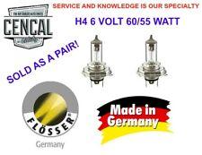 VW BUG GHIA BUS TYPE 3 STANDARD HEADLIGHT BULBS H4 6 VOLT  60/55W FLOSSER 665543