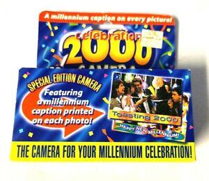 Millennium Celebration 2000 35mm One Time Use Flash Camera 18 Exp. NEW SEALED