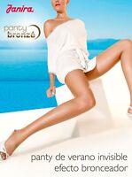 Janira Invisible 5 den Ultra-Sheer Tights Pantyhose - Large - Tan (Bronze Suave)