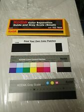 """Kodak Color Separation Guide with Grey Scale Small Size #Q-13 / 20cm (8"""")"""